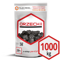 """WĘGIEL """"ORZECH II"""" pakowany 25kg /  węgiel kamienny CN2701 W"""