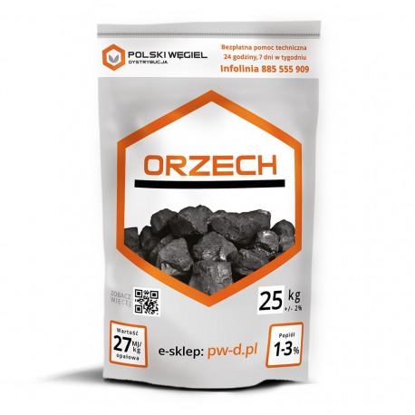 """WĘGIEL """"ORZECH"""" pakowany 25kg x 40 / P"""