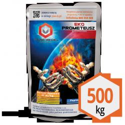 ekoGroszek ekoPROMETEUSZ pakowany 20 x 25kg : 500kg /  węgiel kamienny