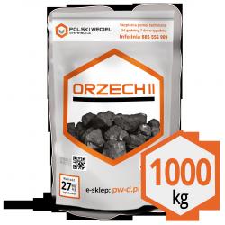 """WĘGIEL """"ORZECH II"""" pakowany 25kg / węgiel kamienny P"""