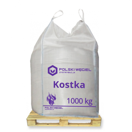 """WĘGIEL """"KOSTKA"""" bigbag 1t / węgiel kamienny"""
