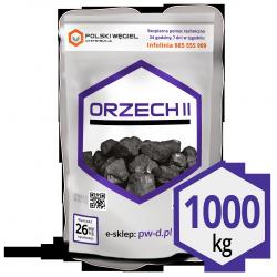 """WĘGIEL """"ORZECH II"""" pakowany 25kg / węgiel kamienny F"""