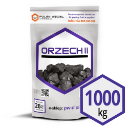 "WĘGIEL ""ORZECH II"" pakowany 25kg x 40 / F"